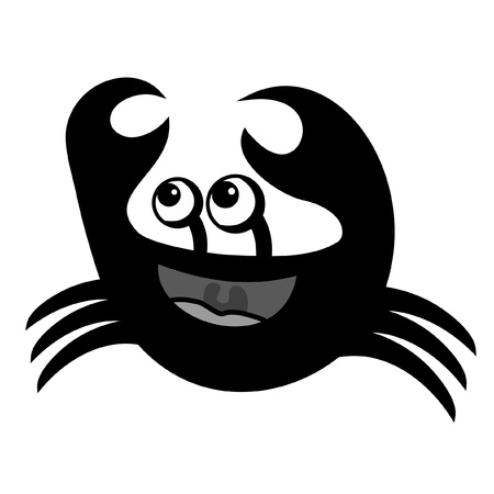 sympathetic: Black crab  Illustration