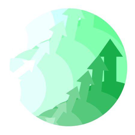 Green arrow icon Stock Vector - 10876837