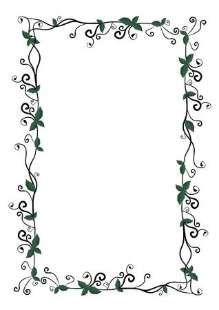 margins: Floral frame