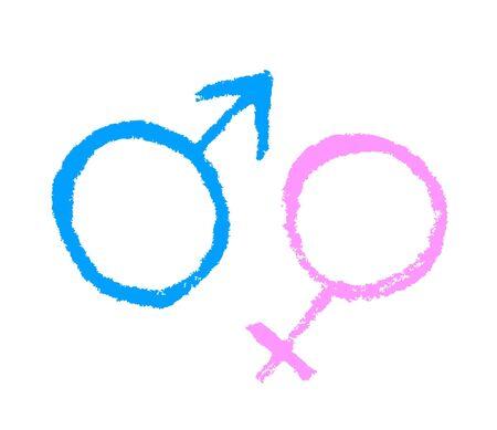 Symbols of men and women