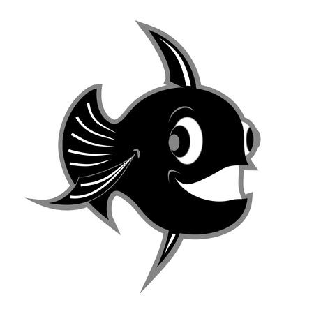 Black fish Stock Vector - 10905596