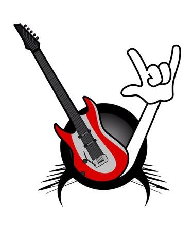 modern innovative: Rock music passion Illustration