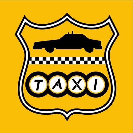 new cab: New York taxi emblem Illustration