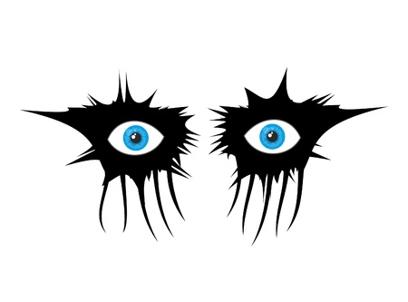 evil eyes: Terror eye makeup