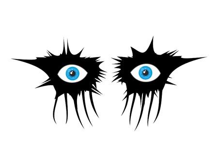 devilment: Terror eye makeup
