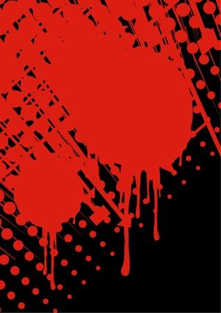 Terror blood background Illustration