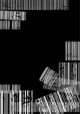 Dark terror background with bar codes