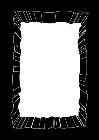 quadrant: Creative black frame Illustration