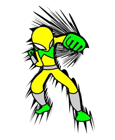Art hero punch Stock Vector - 10944931