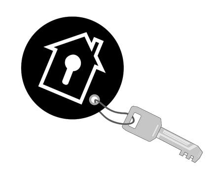 keychain: Key with black keychain