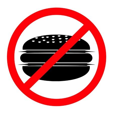tachado: Hamburguesas prohibido