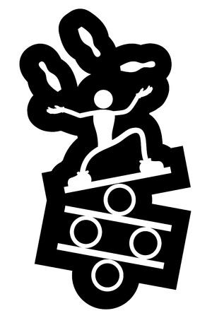 Acrobat icon Vektoros illusztráció
