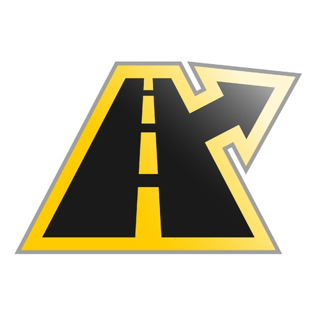 Road exit symbol Vector