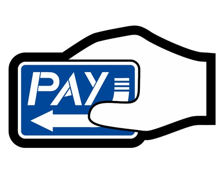 card payment: Paying hand icon Illustration