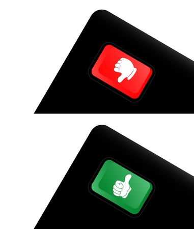 Red and green button Vector