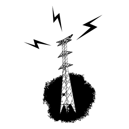 cramping: Electric tower icon Illustration