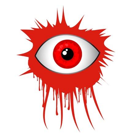 Red terror eye Stock Vector - 11303982