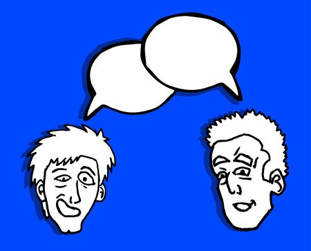 Two friends talking Vector