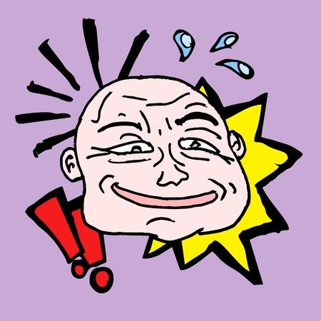 onomatopoeia: Comic head design Illustration