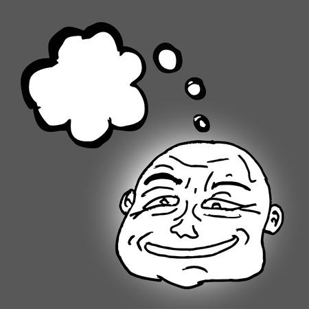 Head thinking Vector