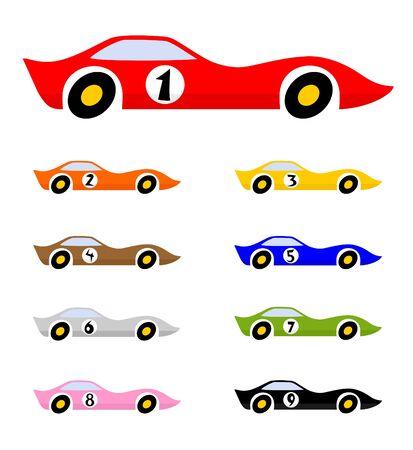 Many color racing car design