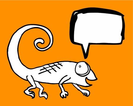 Reptile comic Vector