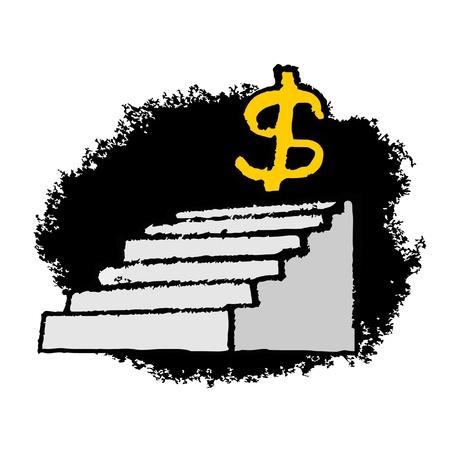 capitalism: Dollar up Illustration