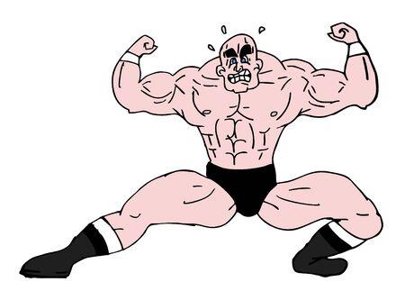 Strong man design Vector