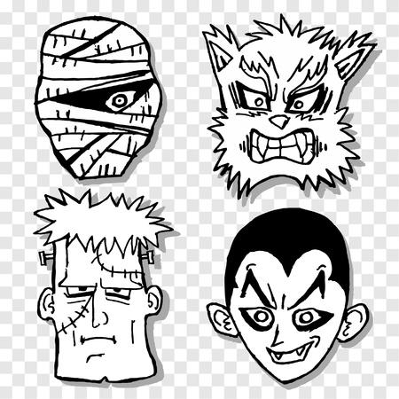 terror: Terror mask Illustration