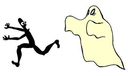 terror: Funny terror Illustration
