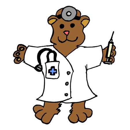 doctor toys: Teddy bear disguised as a doctor