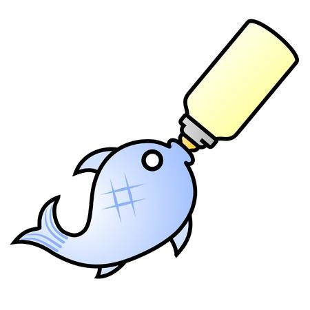 raise: Small fish drinking