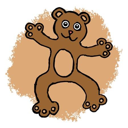 Lovable teddy bear Vector