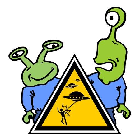 Funny alien attack Stock Vector - 11104290