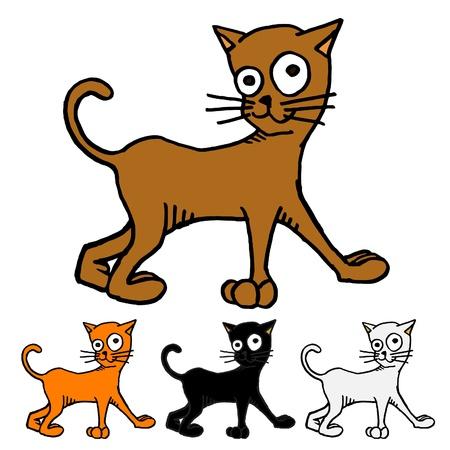gato caricatura: Cat ilustración Vectores