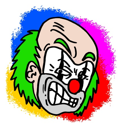 furious: Clown furious with many colors