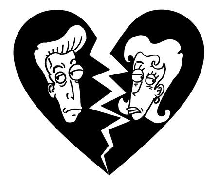 konflikt: Złamany małżeństwo Ilustracja