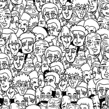 Viele Gesichter Hintergrund