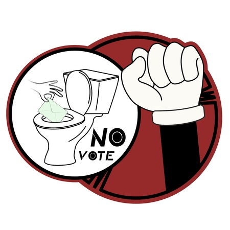 No vote Vector