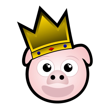 King pig Stock Vector - 11174086