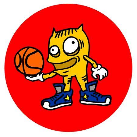 Creative basket icon Vector