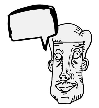Comic face design Vector