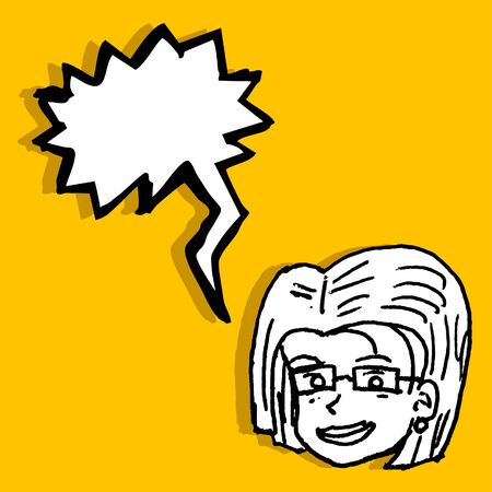 Woman comic design Vector