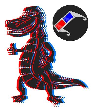 visual effect: Crocodile visual effect Illustration