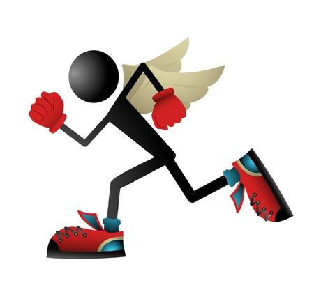 atleta corriendo: Corredor volar Vectores