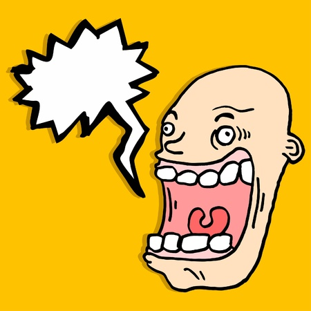 bald ugly: Comic fun face Illustration
