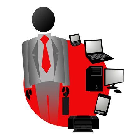 Computer tech business Vector