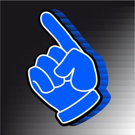 Blue hand Stock Vector - 11246253
