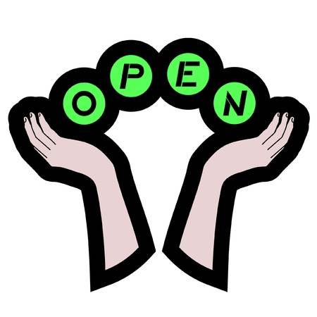 Open icon Stock Vector - 11246243