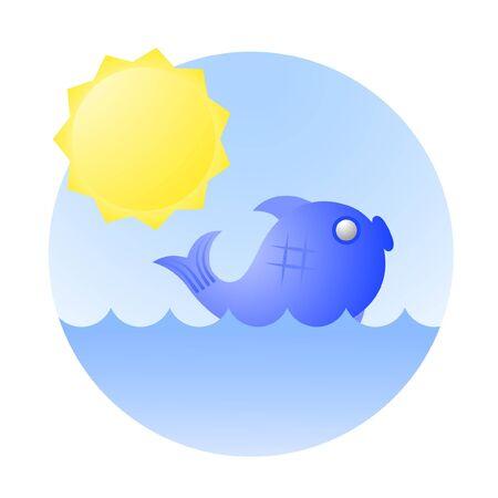 Ocean icon Stock Vector - 11246247